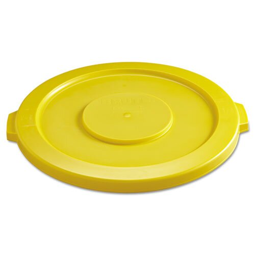 Rubbermaid Commercial Products Round Brute Flat Top Lid in Yellow