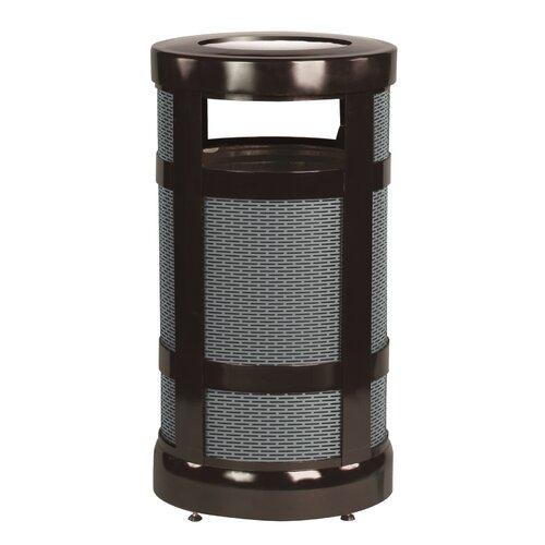 Rubbermaid Commercial Products Architek 17 Gallon Radius Ash Urn Trash Receptacle