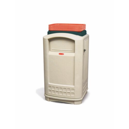 Rubbermaid Commercial Products Plaza® 50 Gallon Container with Tray Top