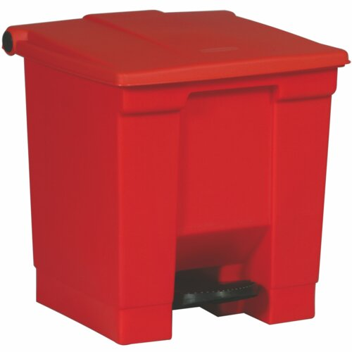 Rubbermaid Commercial Products Step On Waste Container - 8 Gallon