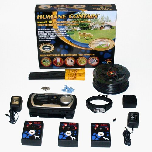High Tech Pet Indoor / Outdoor Rechargeable Multi Pet Electric Fence