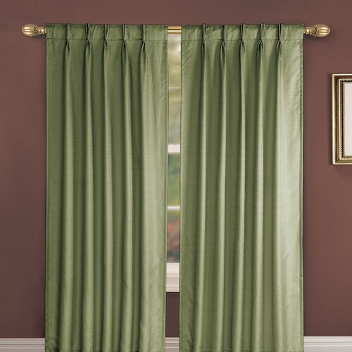 Ellis Curtain Crosby Pinch Foamback Patio Pleated Single Curtain Panel Reviews Wayfair