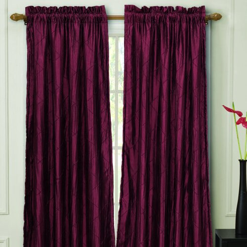 Victoria Classics Nathan Lined Rod Pocket  Curtain Single Panel