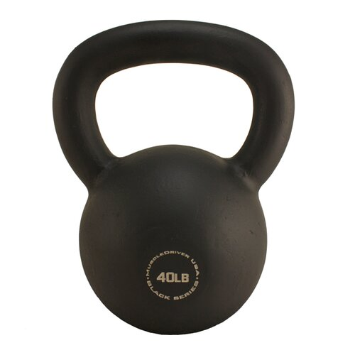 Muscle Driver USA 40 lb Black Series Kettlebell