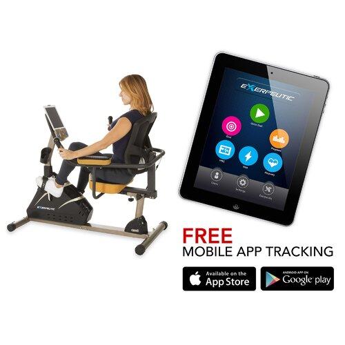 4000 Mobile App Tracking Magnetic Recumbent Bike