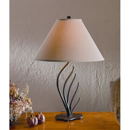 """Hubbardton Forge Coral Fan 14"""" H Table Lamp with Empire Shade"""
