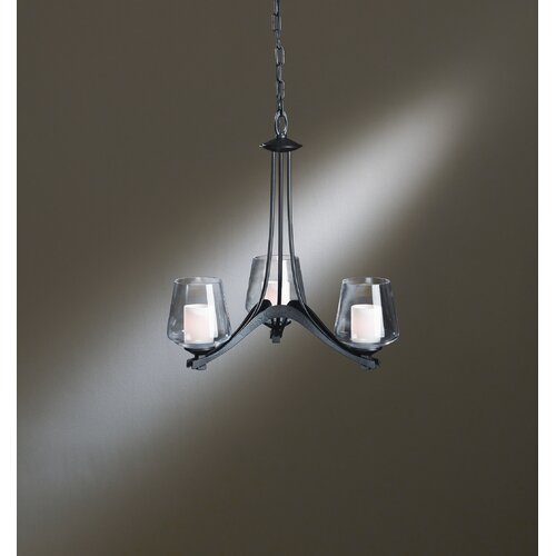 Hubbardton Forge Ribbon 3 Light Chandelier