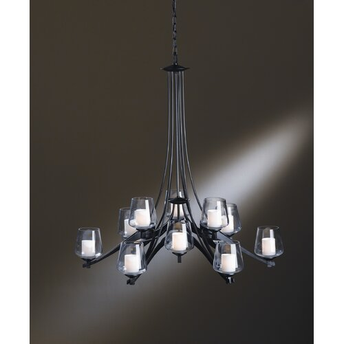 Hubbardton Forge Ribbon 12 Light Chandelier