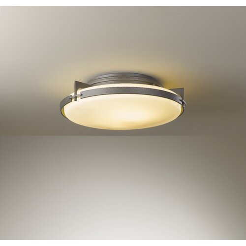 Hubbardton Forge Banded 2 Light Semi-Flush Mount