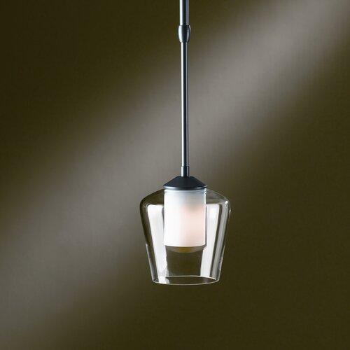 LengthDouble Glass 1 Light Pendant