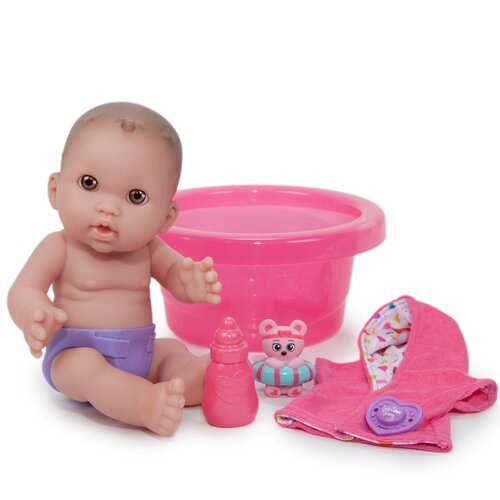 JC Toys Baby Steps Nursery Doll and Bath Set