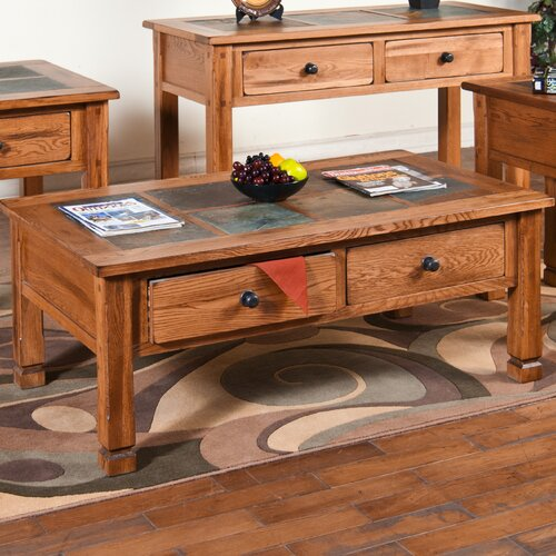 Sunny Designs Sedona Coffee Table with Slate Top