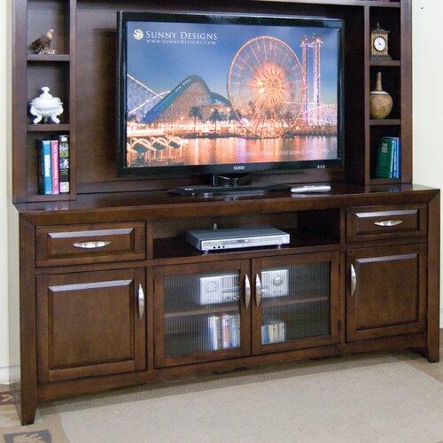 """Sunny Designs Cappuccino 80"""" TV Stand"""