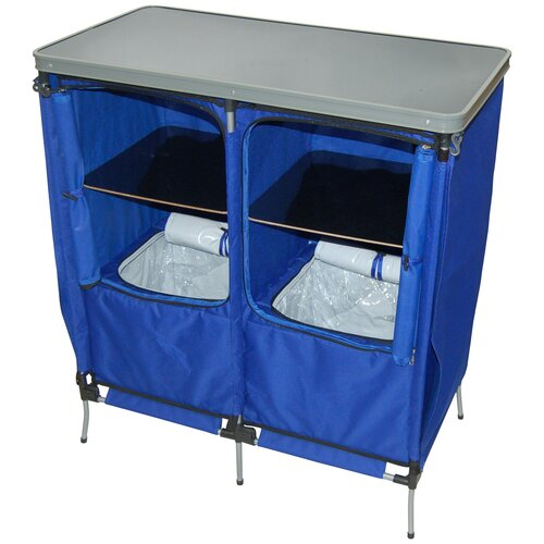 On The Edge Marketing Outdoor Folding Portable Serving Station in Blue