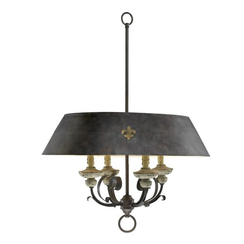 Provence 4 Light Drum Pendant
