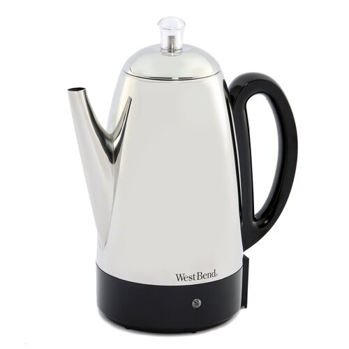 West Bend Coffee Maker Percolator : West Bend 12 Cup Electric Percolator & Reviews Wayfair