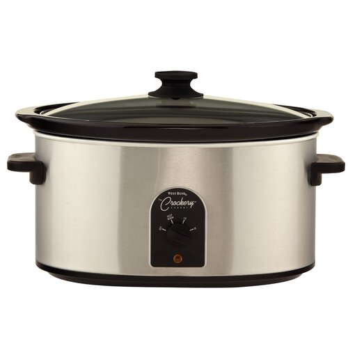 West Bend 4-Quart Oval Crockery Cooker
