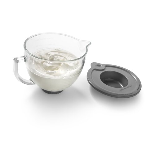 KitchenAid 5 Qt. Glass Bowl with Measurement Markings, Pour Spout