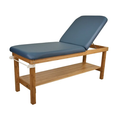 "Oakworks 27"" W Powerline Treatment Table with Backrest"