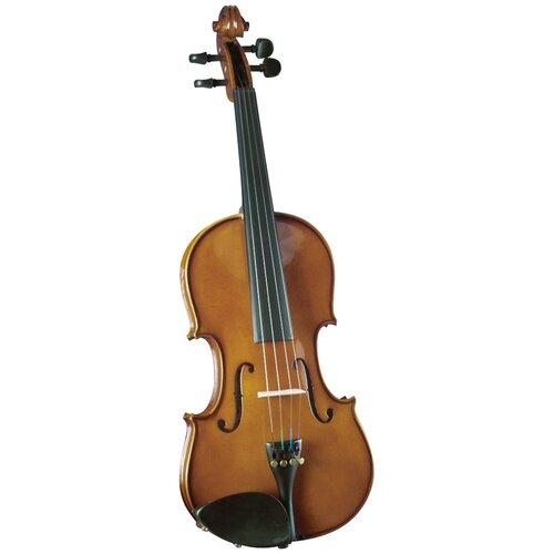 Saga Cremona Novice 3/4-Size Violin Outfit in Opaque Warm Brown