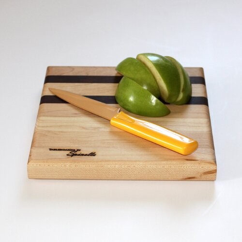 Small Maple Utility Cutting Board with Walnut Accent