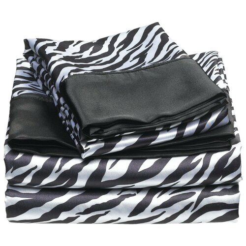 Satin Zebra Sheet Set