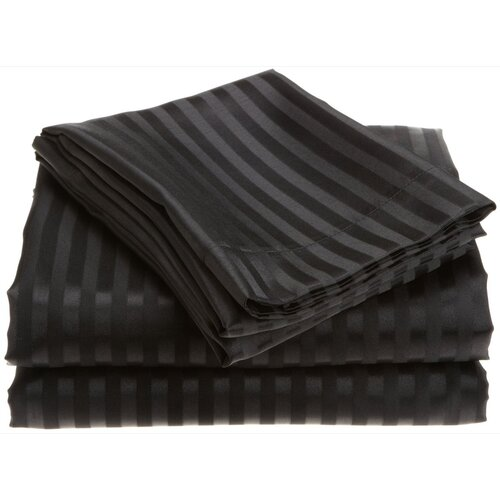 Stripe Satin Sheet Set