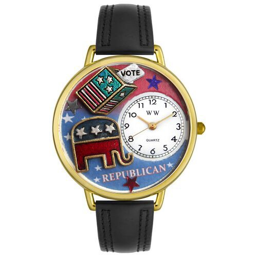 Whimsical Watches Unisex Republican Watch in Gold