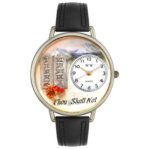 Whimsical Watches Unisex Ten Commandments Watch in Silver