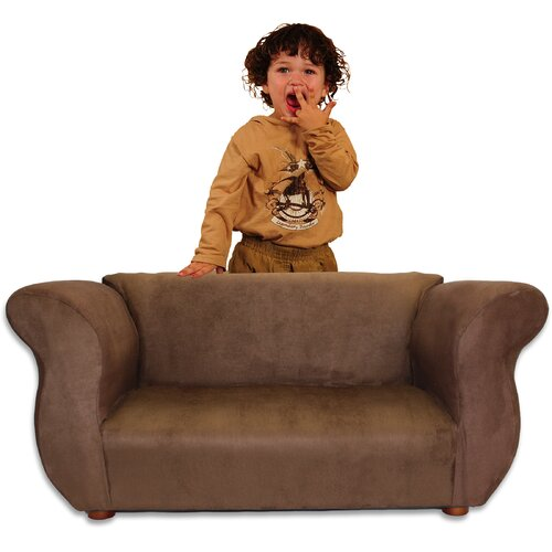 Kid's Fancy Microsuede Sofa