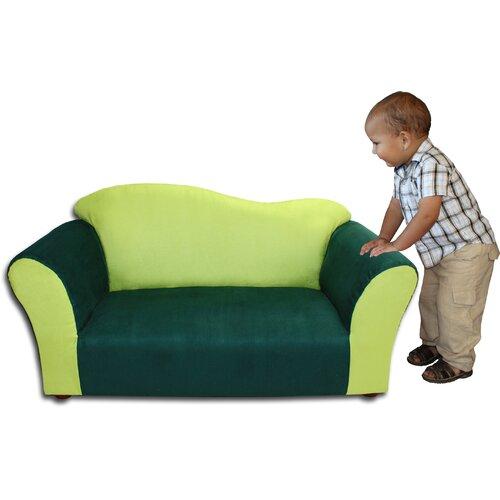 Kid's Wave Microsuede Sofa