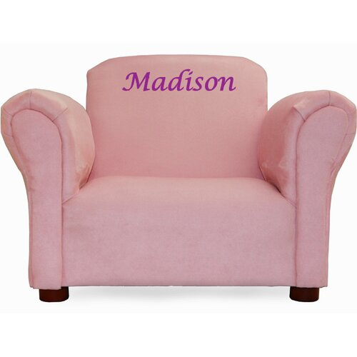 Fantasy Furniture Little-Furniture Personalized Kid's Microsuede Mini Chair
