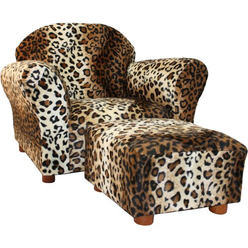 Fantasy Furniture Roundy Kid's Novelty Chair And Ottoman
