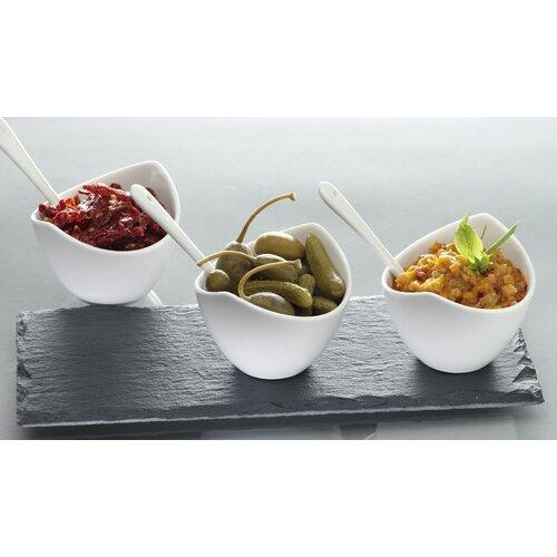 Luigi Bormioli Slate 7 Piece Condiment Set