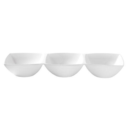 Luigi Bormioli White Porcelain 3 Section Serving Dish