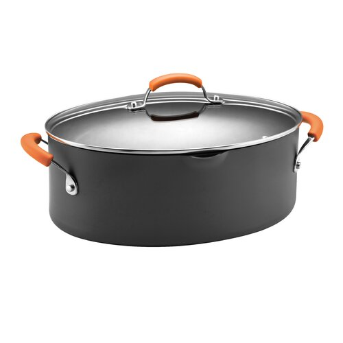 Hard Anodized II 8 Qt. Stock Pot with Lid