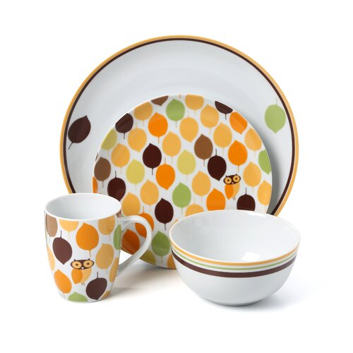 Rachael Ray Little Hoot 16-Piece Dinnerware Set
