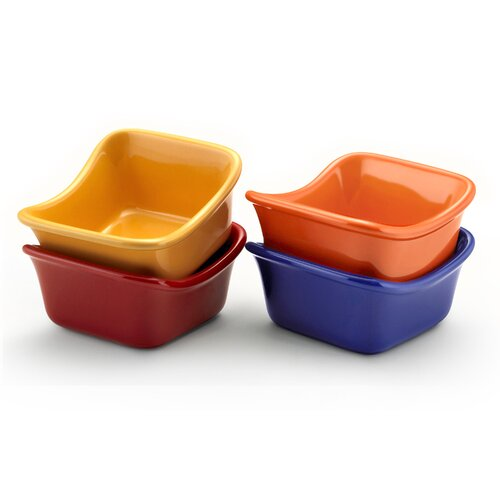 Rachael Ray Stoneware 3 oz. Square Dipping Cups (set of 4)
