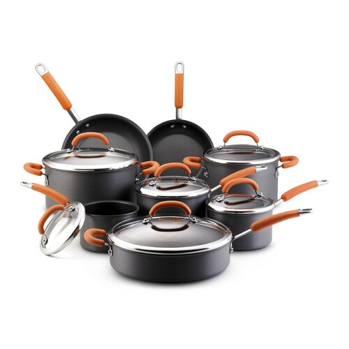 Hard Anodized Nonstick 14-Piece Cookware Set