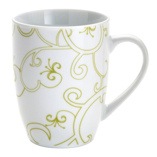 Rachael Ray Curly-Q Green 11 oz. Mugs