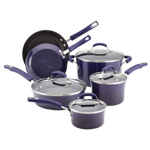 Rachael Ray Porcelain II 10-Piece Non-Stick Cookware Set