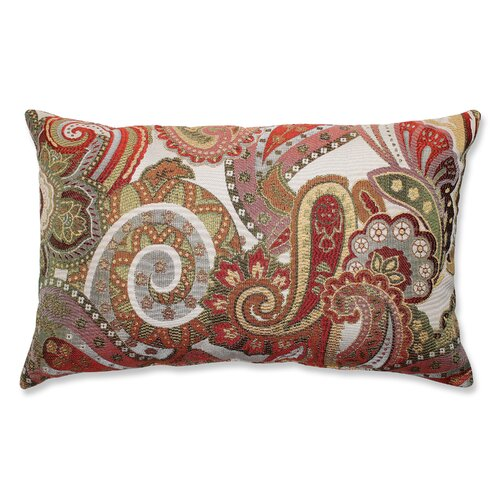 Pillow Perfect Crazy Rosewood Rectangular Throw Pillow