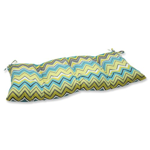 Pillow Perfect Zig Zag Wrought Iron Loveseat Cushion
