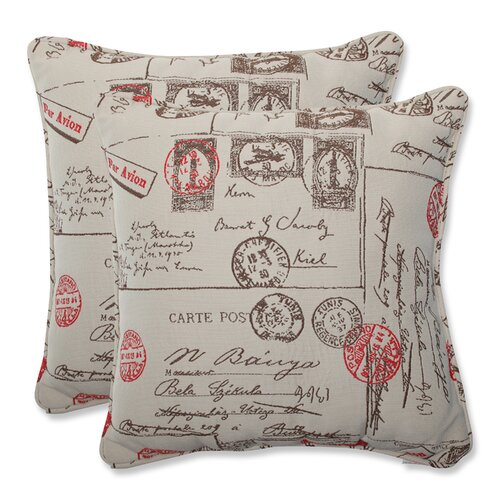 Carte Postale Throw Cushion (Set of 2)