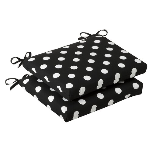Pillow Perfect Outdoor Squared Seat Cushion (Set of 2)