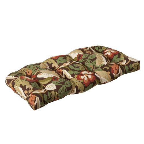 Pillow Perfect Outdoor Wicker Loveseat Cushion