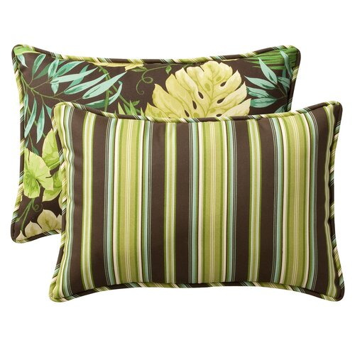 Decorative Rectangle Reversible Toss Pillow (Set of 2)