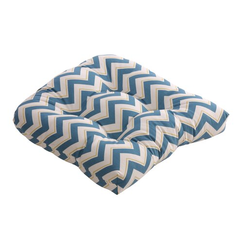 Pillow Perfect Chevron Chair Cushion