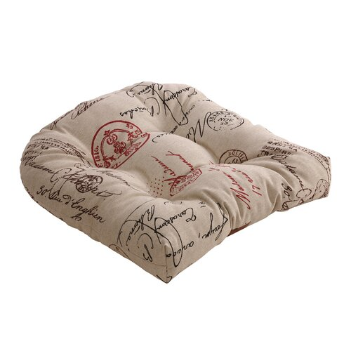 Pillow Perfect French Postale Chair Cushion