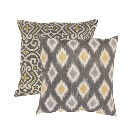 Damask and Rodrigo Throw Pillow (Set of 2)